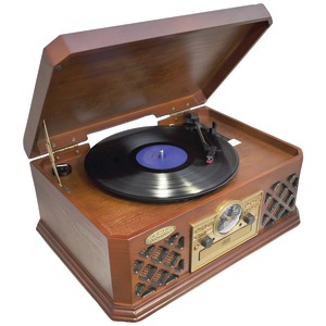 PYLE Retro Style Turntable with Bluetooth(R) PTCD4BT