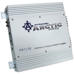 PYRAMID Arctic Series 2-Channel Bridgeable MOSFET Amp (1000 Watts) PB717X
