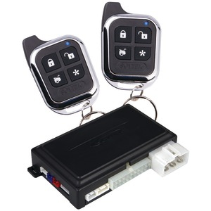 1-Way Remote-Security & Engine-Start System with Keyless Entry & 2 Chrome 5-Button Sleek Remotes