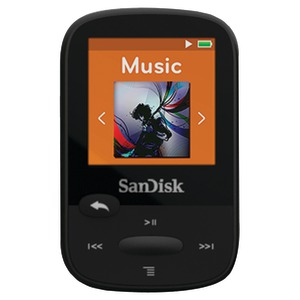 SANDISK 8GB 1.44 Inch. Clip Sport MP3 Player (Black) SDMX24-008G-A46K