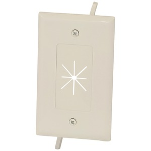 1-Gang Cable Plate with Flexible Opening (Light Almond)