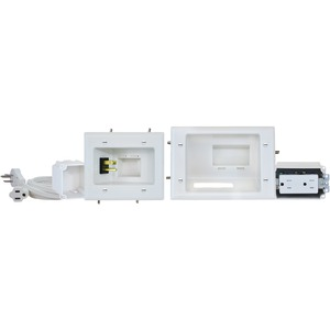 DATACOMM ELECTRONICS Recessed Pro-Power Kit with Straight Blade Inlet 45-0024-WH