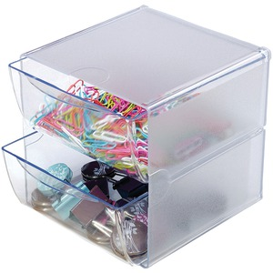 Cube with 2 Drawers (Clear)