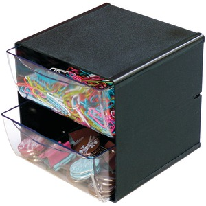 Cube with 2 Drawers (Black)