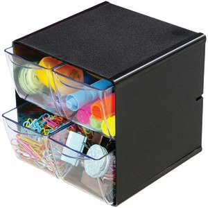 Cube with 4 Drawers (Black)