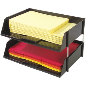 DEFLECTO Industrial Tray(TM) Side-Load Stacking Tray with Risers 2 pk 582704