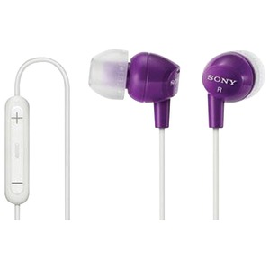 EX Earbuds with Microphone (Violet)
