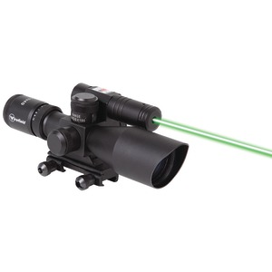FIREFIELD 2.5-10 x 40mm Riflescope with Laser (Green) FF13014