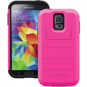 Samsung(R) Galaxy S(R) 5 Aegis Series(R) Wallet Case with Flip-Top Cover (Pink)