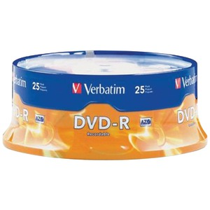 VERBATIM 4.7GB DVD-Rs (25-ct Spindle) 95058