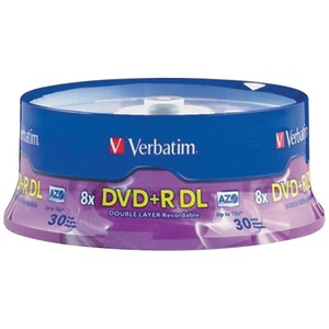 VERBATIM 8.5GB Dual-Layer DVD+Rs (30-ct Spindle) 96542