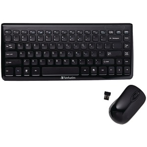 VERBATIM Mini Wireless Slim Keyboard & Mouse 97472