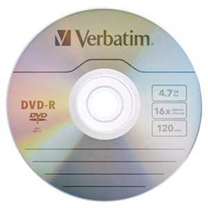 VERBATIM 4.7GB 16x DVD-Rs 10 pk 97957