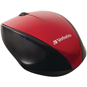 VERBATIM Wireless Multi Trac Blue LED Optical Mouse (Red) 97995