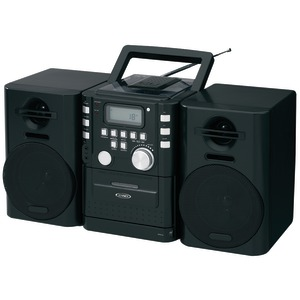 JENSEN Portable CD Music System with Cassette & FM Stereo Radio CD-725