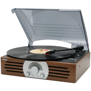 JENSEN 3-Speed Stereo Turntable with AM-FM Stereo Radio JTA-222