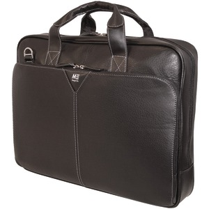 16 Inch. Deluxe Leather Notebook Briefcase