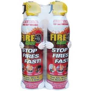 FIRE GONE 16oz Fire Gone(TM) Suppressant with Bracket 2 pk 2-FG-7209