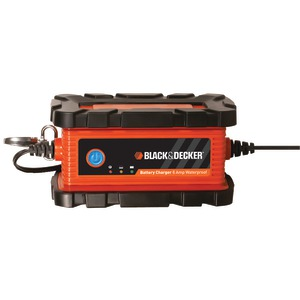 BLACK & DECKER Waterproof 6-Amp Battery Charger-Maintainer BC6BDW