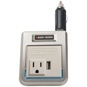 BLACK & DECKER 120-Watt Power Inverter with USB Outlet PI120P