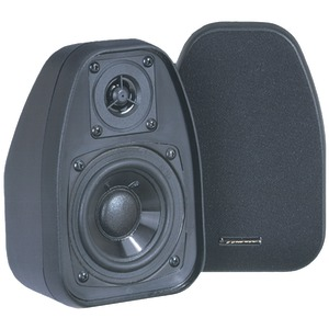 3.5 Inch. Bookshelf Speakers (Black)