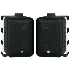 RtR Series 3-Way Indoor-Outdoor Speakers (Black)