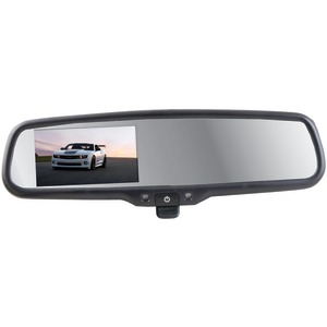 CRIMESTOPPER 4.3 Inch. Replacement-Style Manual-Dimming Mirror Monitor with Digital Color LCD Screen SV-9157