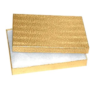 Cotton-Filled Gold Foil Boxes Extra Large (100)