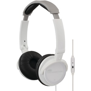 On-Ear Headband Headphones with Remote & Microphone (White)