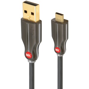 High-Speed USB A to Micro B Cable .5ft