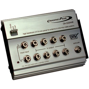 CHANNEL PLUS HDTV Distribution Panel for Off-Air Antenna DA-550HHR