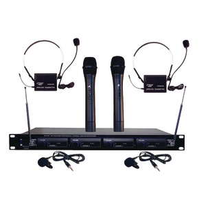 PYLE PRO 4-Microphone VHF Wireless Rack Mount Microphone System PDWM4300