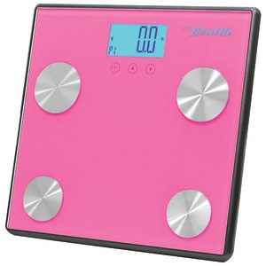 Bluetooth(R) Digital Weight & Personal Health Scale with Wireless Smartphone Data Transfer (Pink)