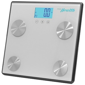 PYLE-SPORTS Bluetooth(R) Digital Weight & Personal Health Scale with Wireless Smartphone Data Transfer (Gray) PHLSCBT4SL