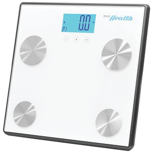 PYLE-SPORTS Bluetooth(R) Digital Weight & Personal Health Scale with Wireless Smartphone Data Transfer (White) PHLSCBT4WT