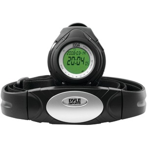 PYLE Heart Rate Monitor Watch with Minimum Average & Maximum Heart Rate (Black) PHRM38BK