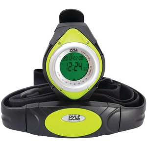 PYLE Heart Rate Monitor Watch with Minimum Average & Maximum Heart Rate (Green) PHRM38GR
