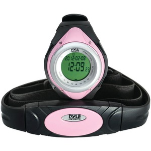 PYLE Heart Rate Monitor Watch with Minimum Average & Maximum Heart Rate (Pink) PHRM38PN
