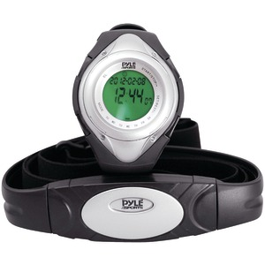 PYLE Heart Rate Monitor Watch with Minimum Average & Maximum Heart Rate (Silver) PHRM38SL