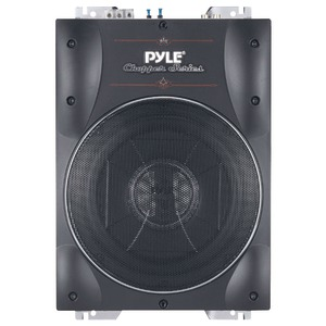 PYLE Chopper Series Low-Profile Super-Slim Active Amplified Subwoofer (8 Inch. 600 Watts) PLBASS8