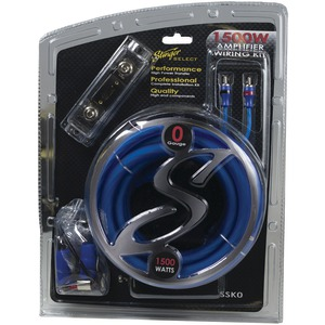 STINGER Select Wiring Kit with Ultra-Flexible Copper-Clad Aluminum Cables (0 Gauge) SSK0