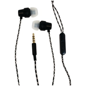 BILLBOARD Extra Bass Stereo Earbuds with Microphone (Black) BB573