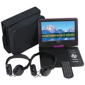 PCT Brands Cinematix(TM) 9 inch. Portable DVD Player with 6-Hour Battery (Purple) 70166