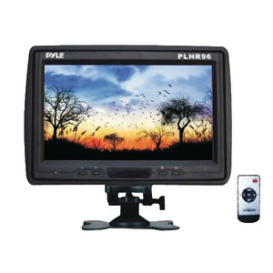 PYLE 9 Inch. TFT LCD Cut-in Headrest Monitor with IR Transmitter Stand & Shroud PLHR96