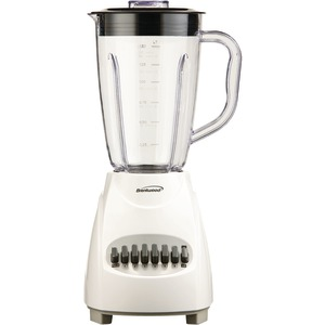 BRENTWOOD 12-Speed Blender with Plastic Jar (White) JB-220W