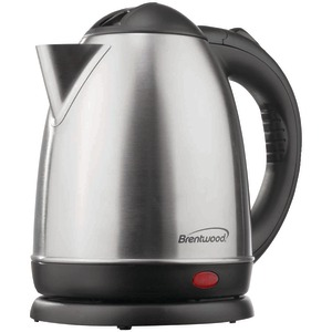 BRENTWOOD 1.5-Liter Stainless Steel Electric Cordless Tea Kettle (Brushed stainless steel) KT-1780