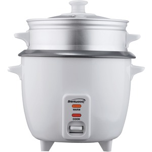 BRENTWOOD Rice Cooker with Steamer (5 Cups 400W) TS-600S