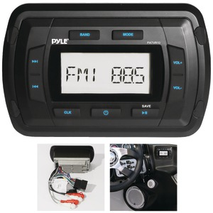 PYLE Marine Dash-Panel Mechless Receiver with Bluetooth(R) PATVR10