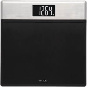 TAYLOR Textured Black Digital Scale with Glass Core 74234072