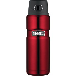 THERMOS Stainless Steel Vacuum Insulated Beverage Bottle, 24oz (Cranberry Red) SK4000CRTRI4
